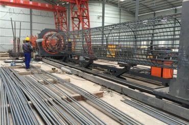 Պատրաստված է Չինաստանում Պարզ գործողություն Ուժեղ եւ ամուր Որակի ապահովման պողպատե շինանյութի վանդակի եռակցման մեքենա եւ ամրապնդող վանդակի պատրաստում